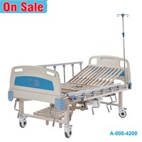 Easy to use queen size remote control metal manual hospital bed price