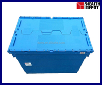 600x400x412mm Attached Lid Crates