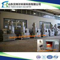 Pet Cremation Machine, 850-1300 Celsius Degree, two chambers 100% smoke and smell free