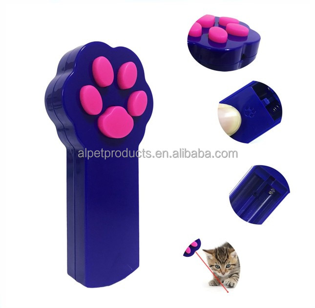 Cat Catch the Interactive LED Light Pointer Paw Style Cat Toys Red Pot Exercise Chaser Toy