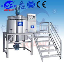 stainless steel lotion mixing machine with scraper agitator and high shear homogenizer