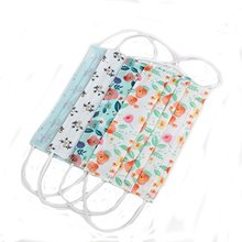 3 Layer Flower Print Non woven Fabric Disposable Medical Surgical Dust Filter Ear Loop Mouth Cover