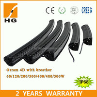 2016 wholesale Chinese cheap 50'' 288w 12v curved philip LED light bars for jeep