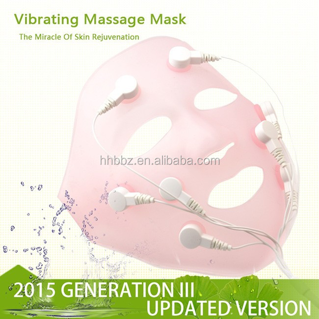 Mask Form Anti-Wrinkle Feature beauty equipment electric vibrating facial mask massager