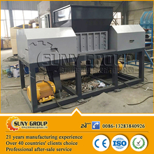 Scrap waste plastic film double shaft shredder for sale