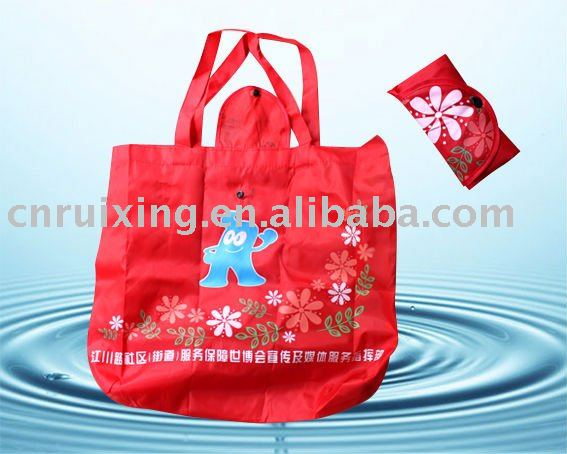 190T polyester shopping bag