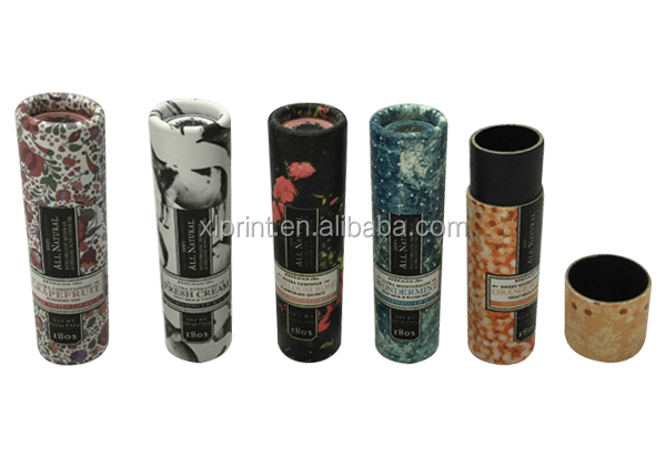 Mini lipstick packaging tube/ Small cardboard cylinder for lip balm tube packing