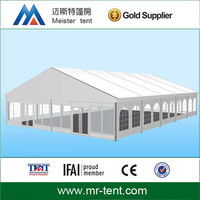 Heavy duty frame tents for industries with glass wall and glass doors