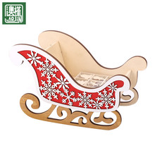 hot sale wooden christmas sleigh indoor festival decoration