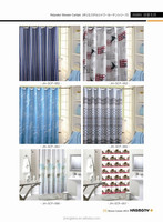 white blue breathable shower curtain manufacturer