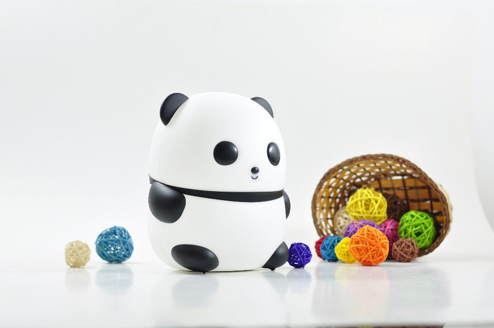 Factory supply cheap lovly led panda night light with sensitive touch