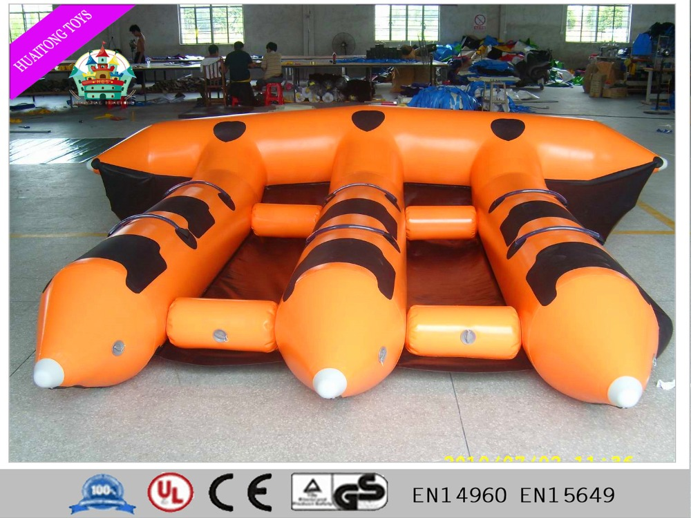 2016 new product Customized Inflatable flying fish boat on sale