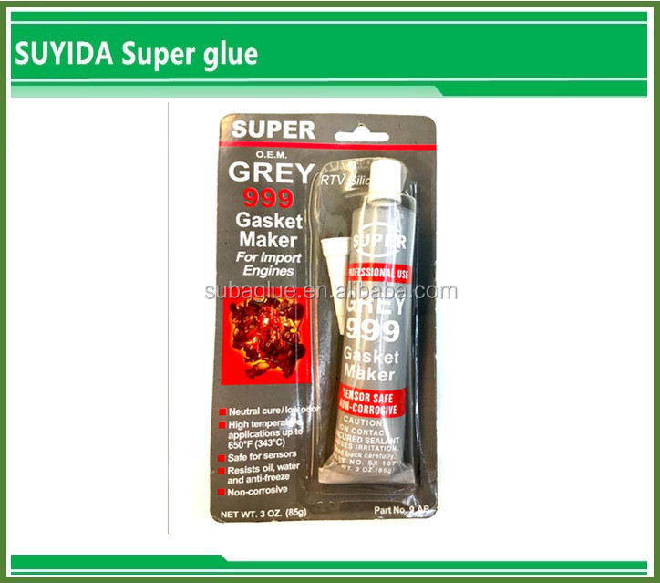 Suyida Instant liquid Grey Rtv Silicone Gasket Maker what is epoxy glue