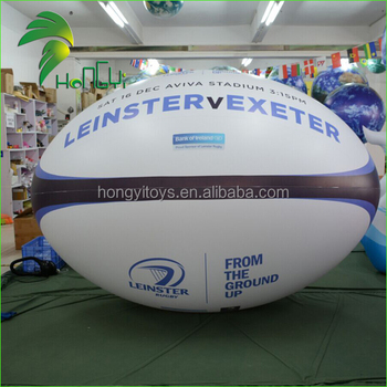 Balloon Type Rugby Football , Inflatable Rugby Ball For Commercial Display