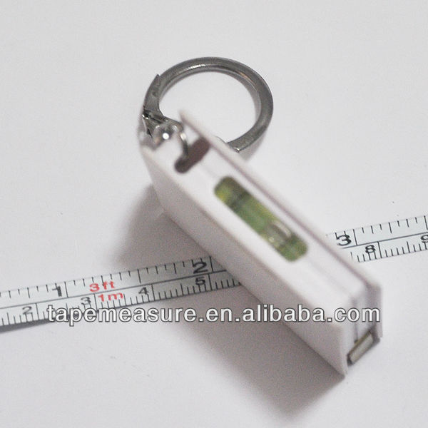 100cm/39inch keychain square spirit level tape measure factory with Your Logo