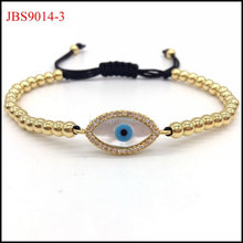 Fashion Design Micro Pave CZ shell Eye Beads Men and women Macrame Bracelets