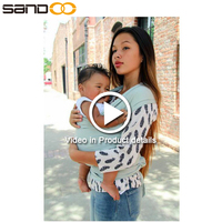2017 Sandoo wholesale cotton comfortable black baby wrap for carrier