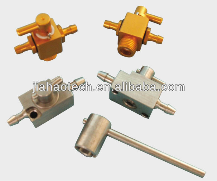 Aluminium 3-way valve for solvent printers print head cleaning