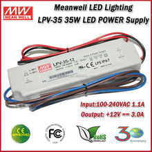 Meanwell LED Driver LPV-35-12 (35W 12V 3A) Single Output Constant Voltage Waterproof 35W 12V Driver LED Floodlight
