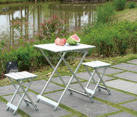Trail Folding Table Camping Cook Outdoor Fish Hunt Sport Eat Food Storage