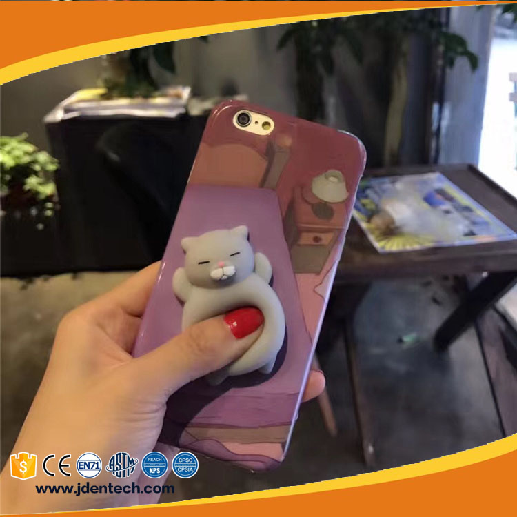 China supplier slow rising cat clow panda Squishy Phone Case