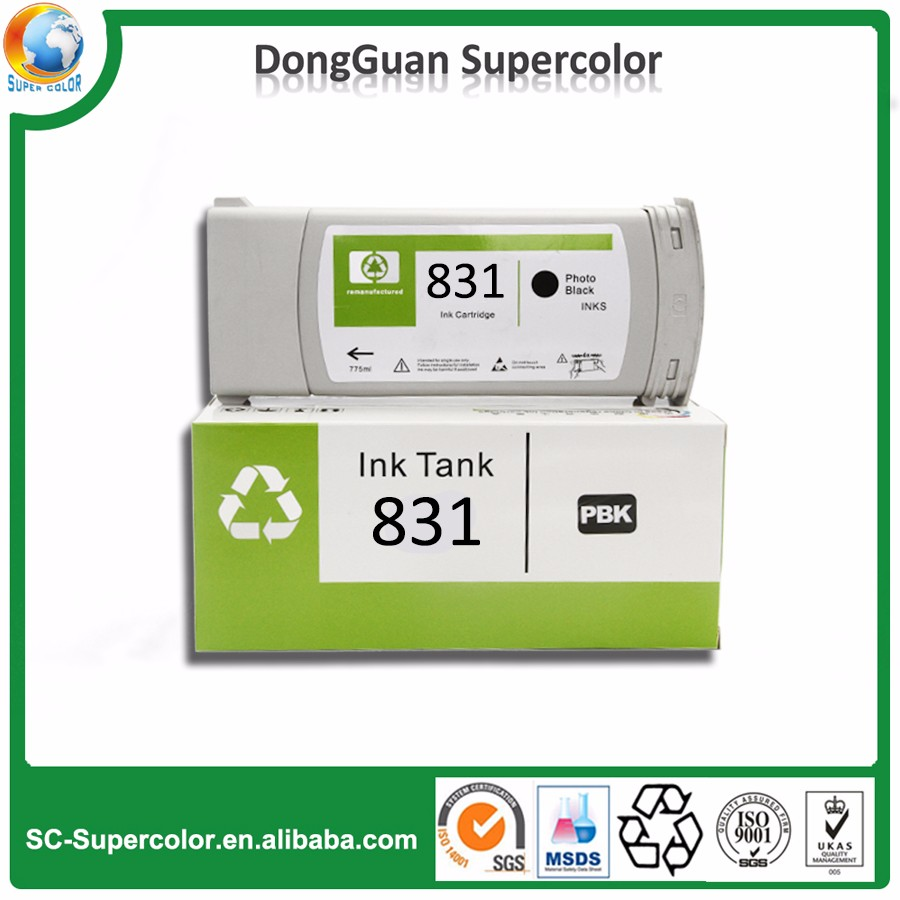 printing ink and cartridge wholesale for HP cartridge 831 , Latex 300 310 330 360 370 inkjet cartridge for printer