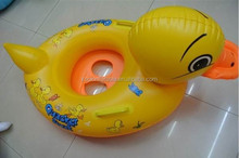 Wholesale kids water game pvc inflatable duck floating seat rider