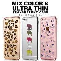 3D Animal phone case fashion Colorful leopard Printing TPU Soft Phone Case Cover For iphone 6 6s transparent Phone Cases