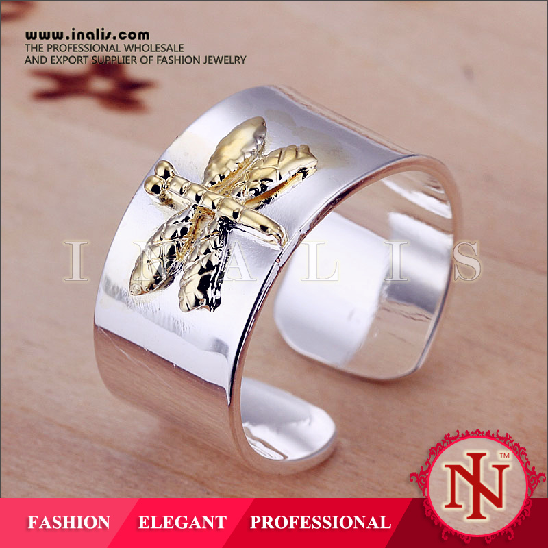 2012 best hot dragonfly design silver men finger nepal jewelry wholesale R011