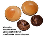 Wooden Bowl and Coconut shell bowl