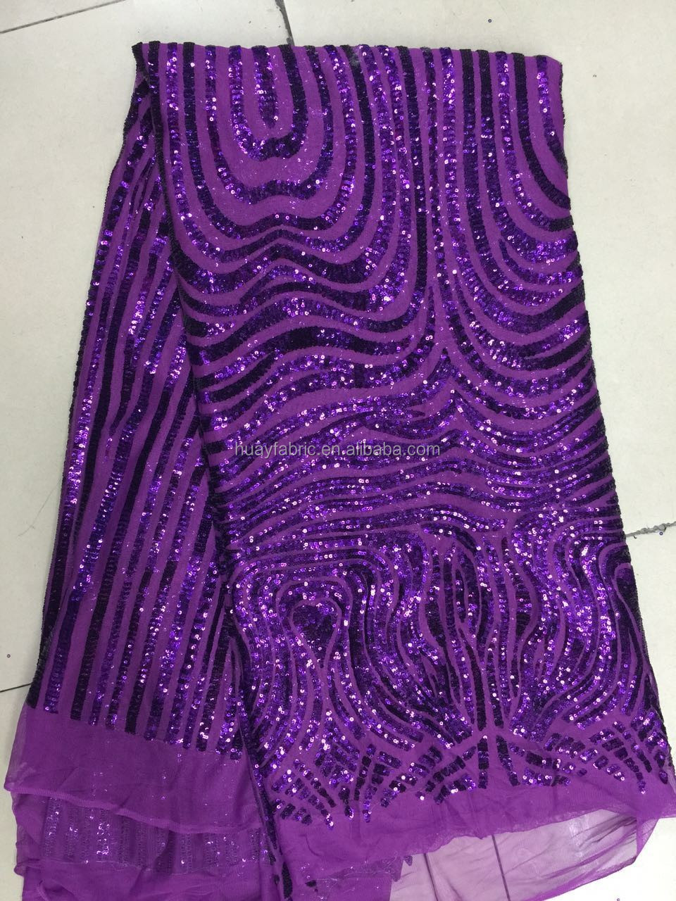 2015 New Purple African Lace fabrics french lace embroidery for evening top dress HY0215