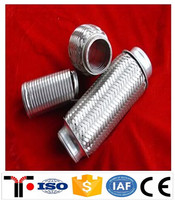 stainless steel flexible exhaust pipe with joint Interlock / car exhaust pipe /used exhaust pipe benders for sale