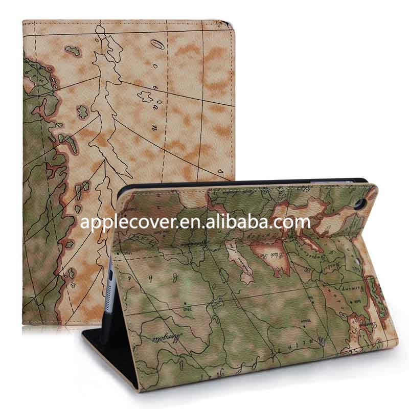 MAP DESIGN FOR IPAD MINI 2 FLIP STAND CASE COVER
