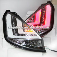 FORD Hatchback Fiesta LED Strip Tail Light 2009-2013 year Chrome Housing V1