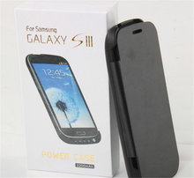 3200mAh battery flip case for Samsung Galaxy S3 I9300 power cover, for Samsung S3 leather charging case cover
