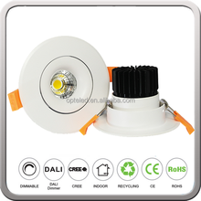 High Quality Low Watts 12V or 230V Recessed LED Ceiling Spotlight 6W 9W White or Black Shell