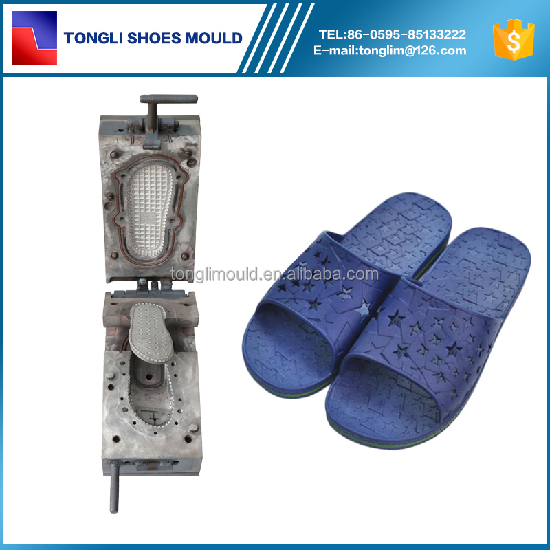 Hotel PCU Slipper Mould Air Blow Molding Shoe Making