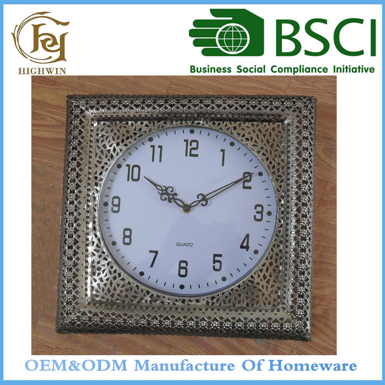 Yes-handmade Metal Time mosque square framed digital clock
