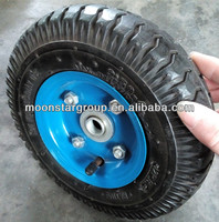 solid rubber toy wheels pneumatic rubber wheel 2.50-4