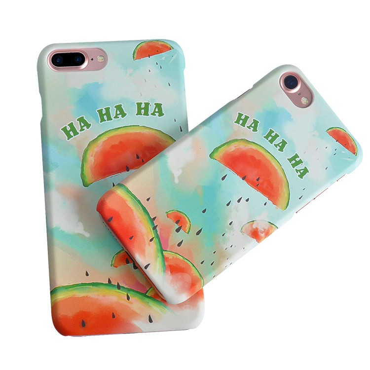 DFIFAN brand printing case for iphone 8 case water transfer print fruity design mobile back cover for apple iphone 8 plus case