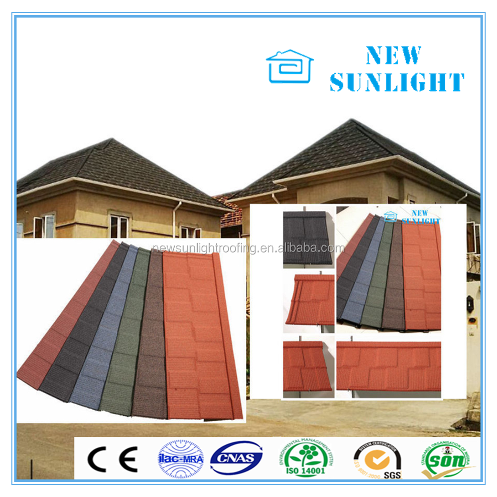 Nigeria Africa hot sale roofing sheet stone coated metal roof tile
