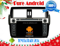 TOYOTA PRADO 2014 pure android 4.2 car dvdr , RDS,Telephone book,AUX IN,GPS,WIFI,3G,Built-in WIFI Dongle