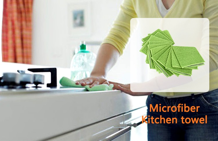 High absorbtion and quick drying cheap microfiber kitchen dish cloth