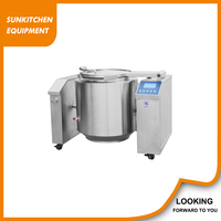 China SUS 304 120L safe tilting jacketed kettle/steam jacketed kettle for sale