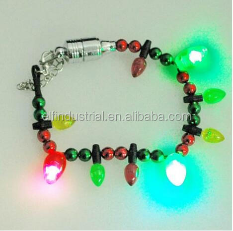 Light Up Party Flashing LED Beads Bracelet Wristband Bangle For Party Supplies Light up Bulbs Bracelet