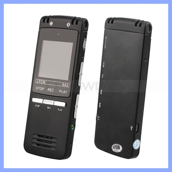 8GB Rechargeable USB Voice Recorder With External HD Horn Mp3 Player