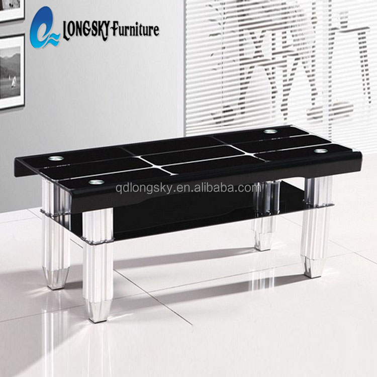 LS-1034 home collection sono glass coffee table coffe glass table long coffee tables