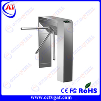 Bidirectional LED indicator lamp&alarm light high quality pedestrian turnstile with access control system