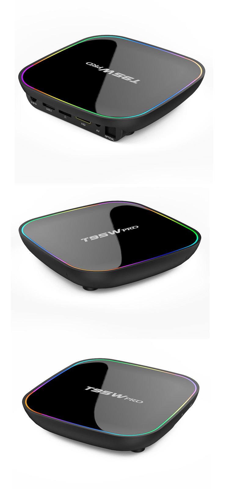T95w pro android Set Top Box with 10/1000M Cable Network