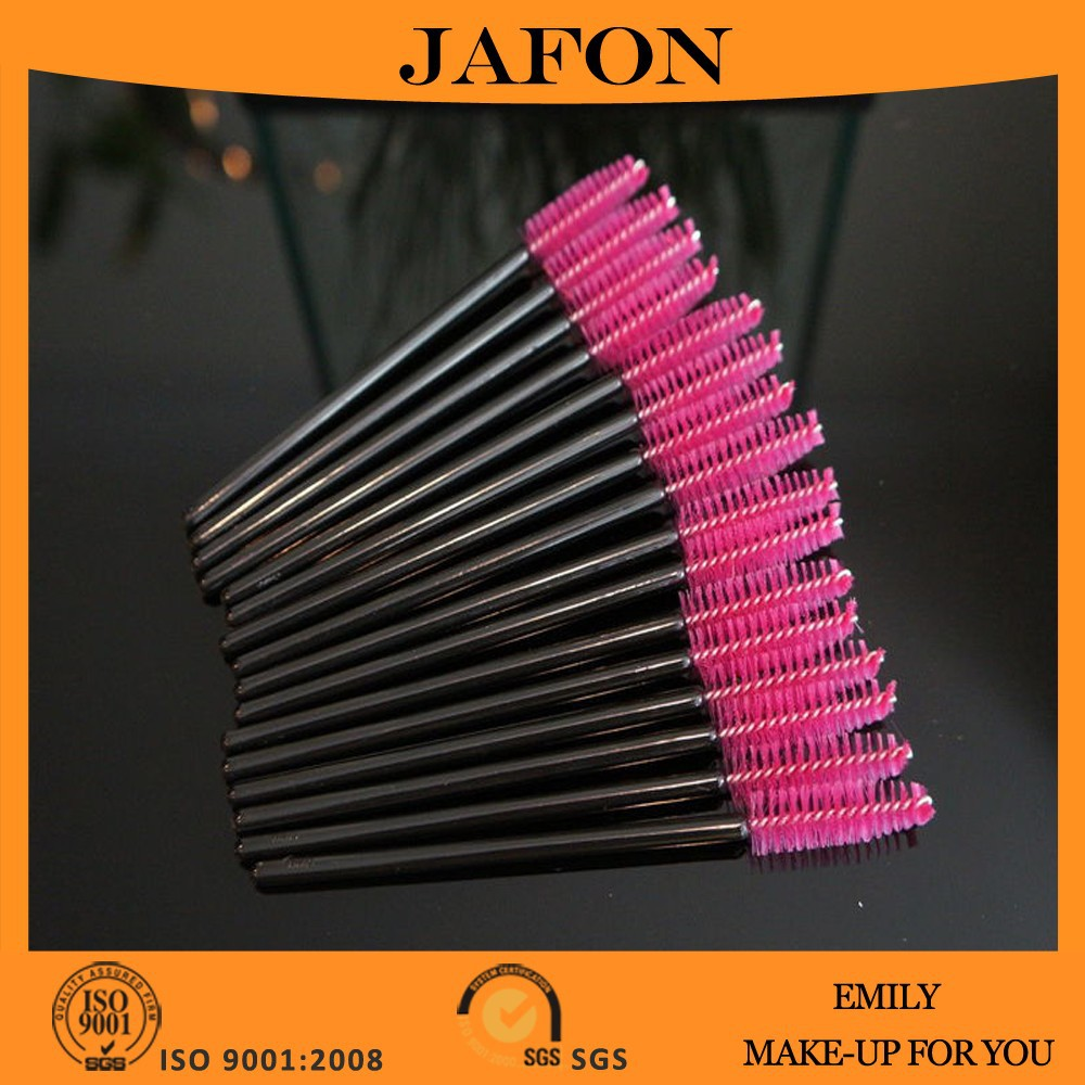 Wholesale Pink Disposable Eyelash Lash Mascara Wand Brush Applicator Makeup Tool